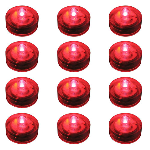 Submersible RED LED Lights 12ct