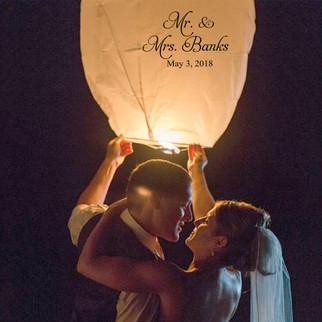 Custom Sky Lanterns - Weddings