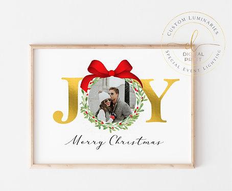 Joy Custom Christmas Print