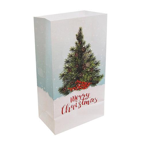 Christmas Tree Luminary Bags - 24ct