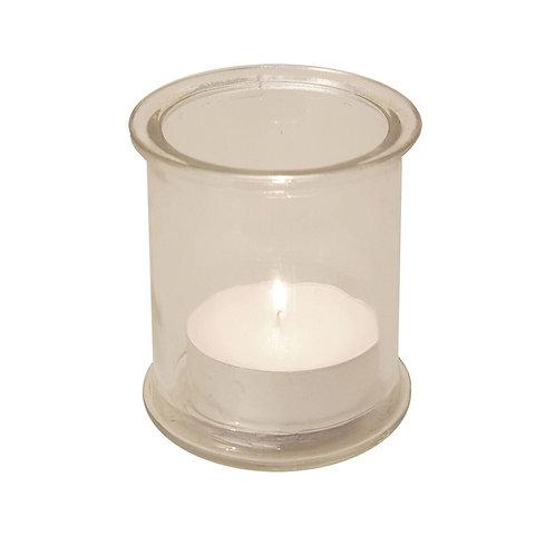 4 Glass Holders & 12 Mega Tealight Candles