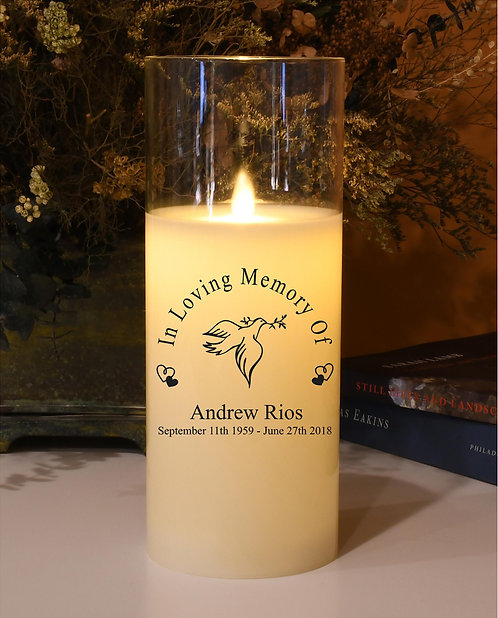 In Loving Memory Memorial Candle - Natural Motion