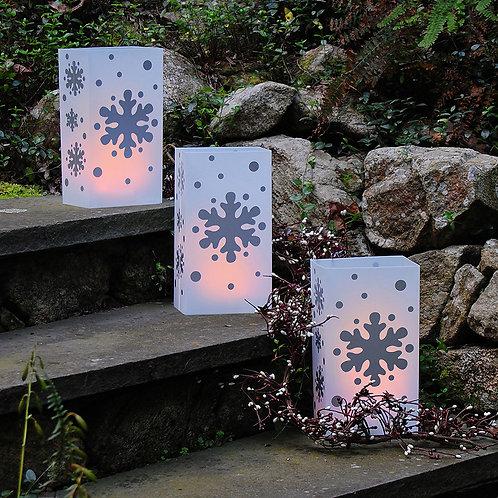 Plastic Luminaria Bag - Snowflake 12ct