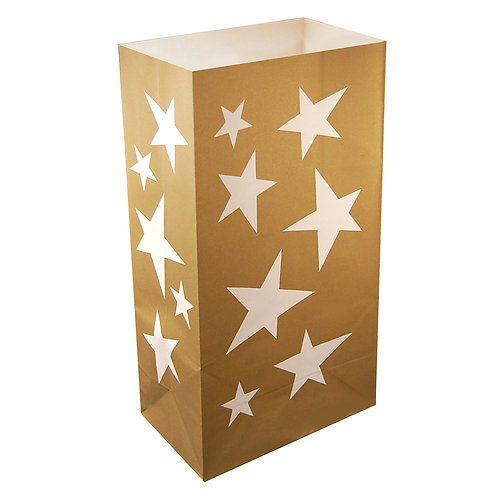 Star Paper Bag Luminaries - 24ct