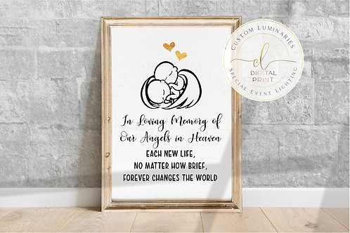 Twin Babies Memorial Print - Angels in Heaven