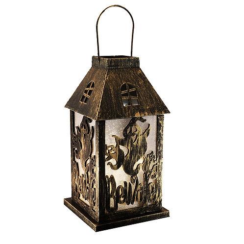 Wooden Lantern - Halloween Ghosts BeWare Lantern