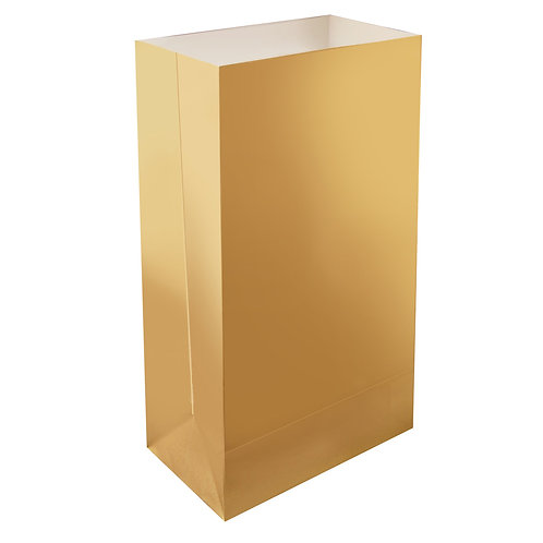Gold Paper Luminary Bags - 24ct