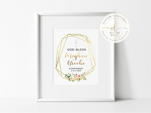 God Bless Personalized Confirmation Print