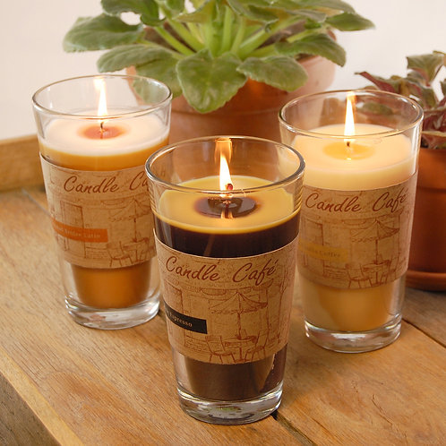Coffee Scented Candles Cafe Collection 3-11oz