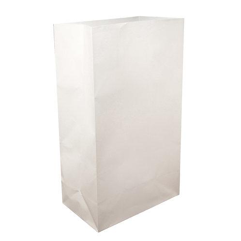 Luminaria Paper Bag Flame Resistant - White 100ct