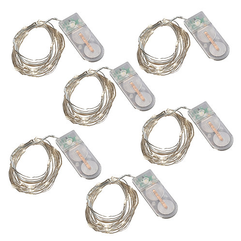 Battery LED Fairy String Lights S-F-B - Cool White 6L