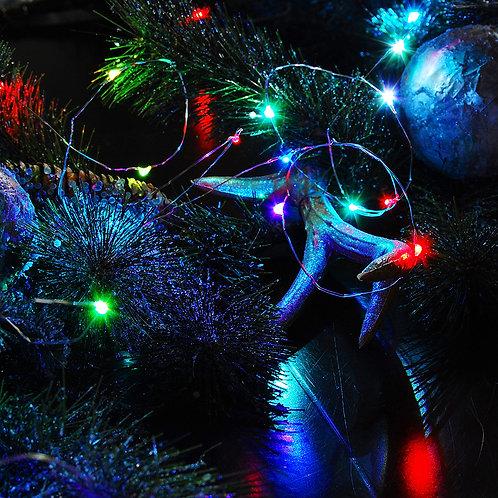 Battery LED Fairy String Lights - Multi Twinkle 2-50L