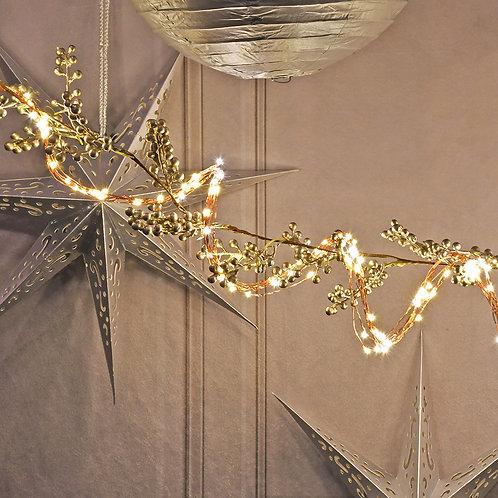 Electric Multi Strand Fairy Lights - White/Copper 300L