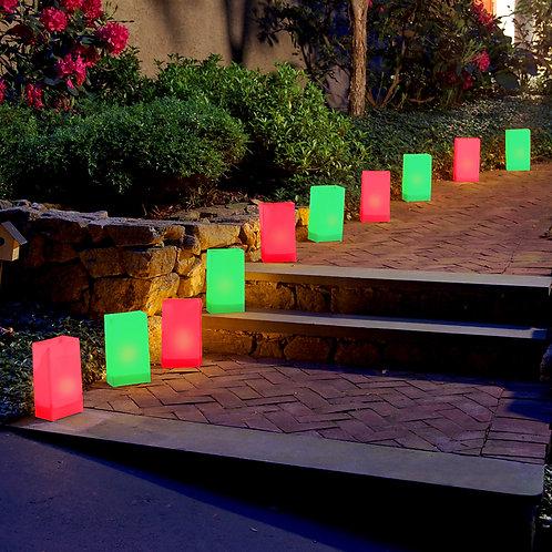 Electric Luminaria Kit - Red & Green Lights 10L