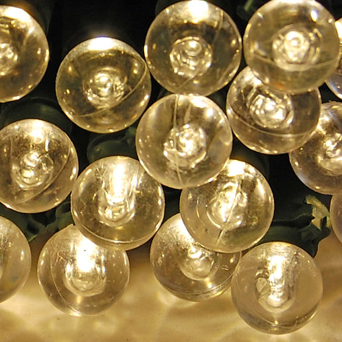 String Lights – Plastic Balls Warm White 70ct