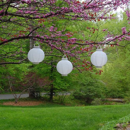 Solar Nylon Lanterns 3–8″ with Hanging Hook