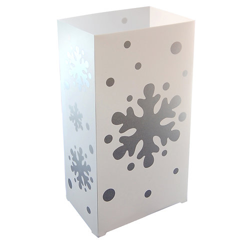 Plastic Luminarias SNOWFLAKE in 12ct