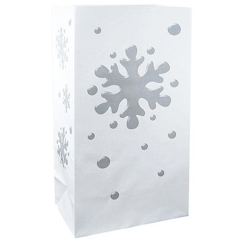 Paper Bag Luminaries - Snowflake 24ct