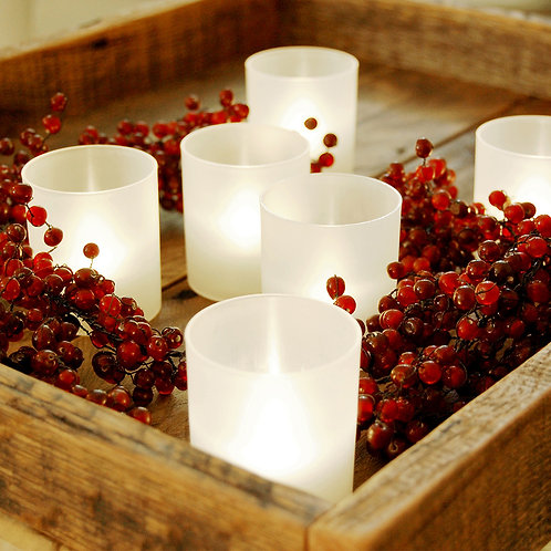 Battery LED Flickering Votive Cups - Warm White 6L