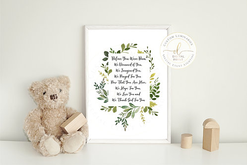 Before You Were Born Nursery Wall Quote *Instant Download*