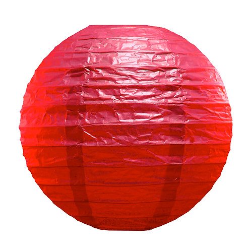Paper Lantern 10″ RED 5ct
