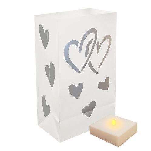 Battery LumaLite LED Luminaria Kit - Hearts 6ct