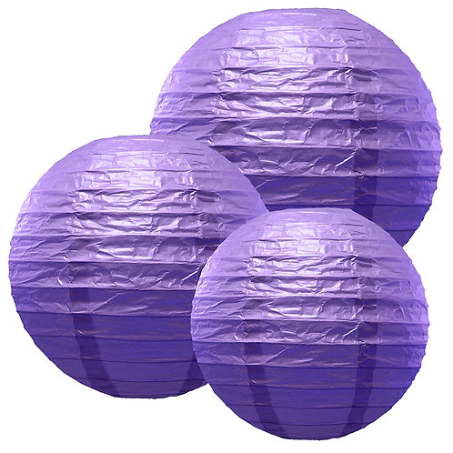 "Paper Lanterns Multi Size (12""-14""-16"") - Purple 6ct"