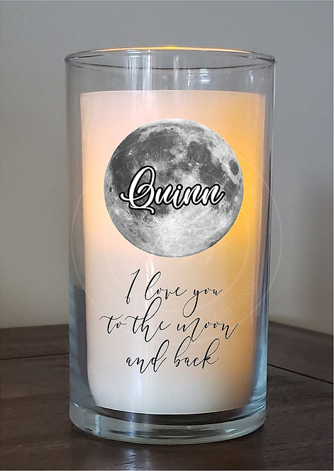 I Love You to the Moon and Back Custom Candle