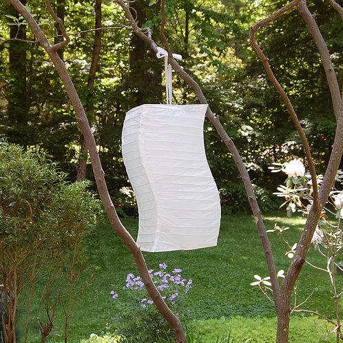 Twisted Paper Lantern WHITE 3ct