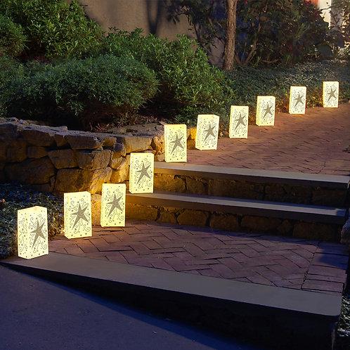 Electric Luminaria Kit w/LumaBases � Gold Star 10L