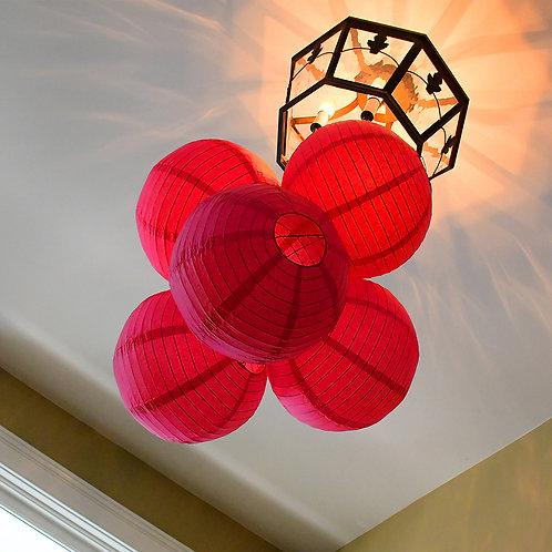 """Paper Lantern 10"""" - Red 5ct"""
