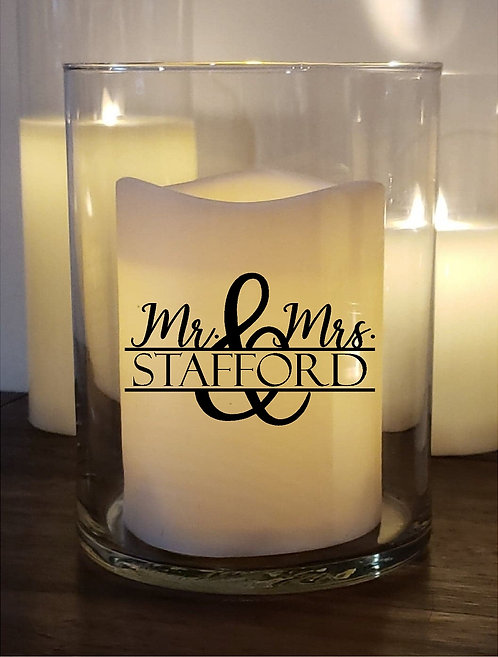 Mr. & Mrs. Custom Candle