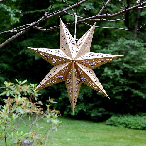 7 Point Silver Star Paper Lantern 3ct