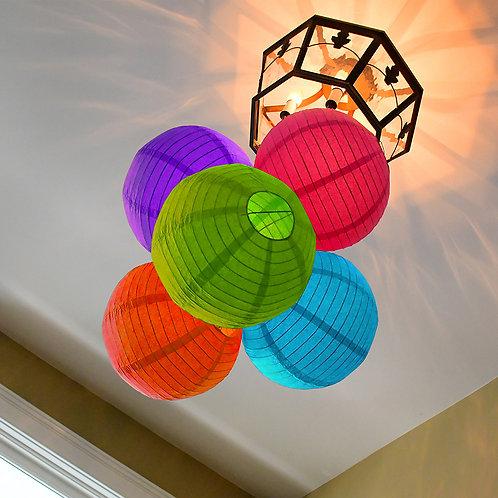 """Paper Lantern 10"""" - Multi Color 5ct"""
