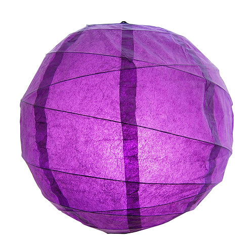 "Paper Lantern Criss Cross 12"" - Purple 5ct"