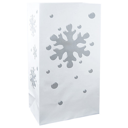 Luminary Flame Resistant Snowflake 12ct