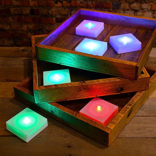 Battery LumaLite LED Light Changing Color w/Timer 6L