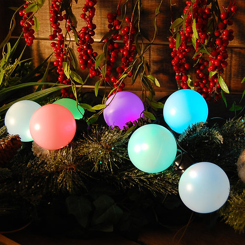 Solar Pathway String Lights w/ optional Stakes 8–2.5″ Changing Color