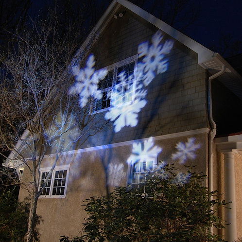 Electric Projector Lights - White Snowflakes 1ct