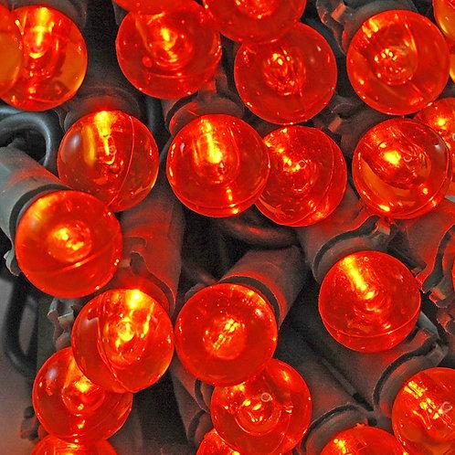 Electric String Lights - Plastic Globes Orange 70L