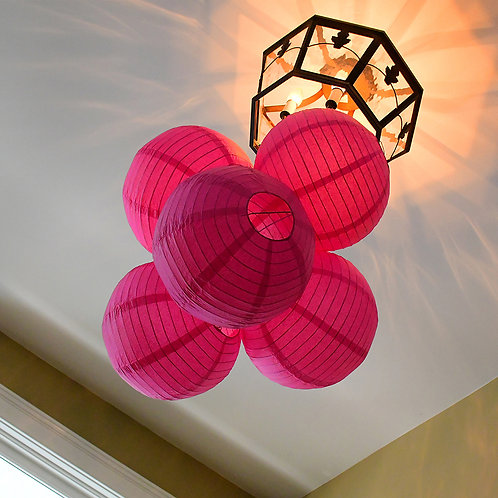 "Paper Lantern 10"" - Fuchsia 5ct"