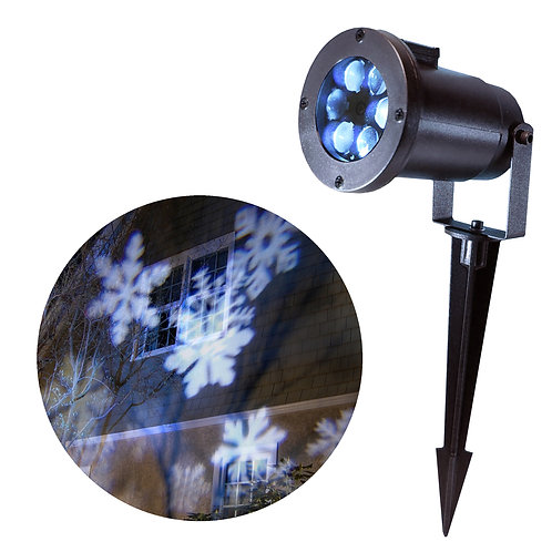 Electric Projector Lights – Snowflakes 1ct