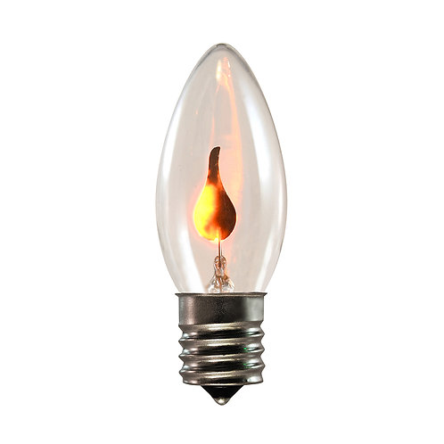 Bulbs - C9 E17 10L Orange Flickering