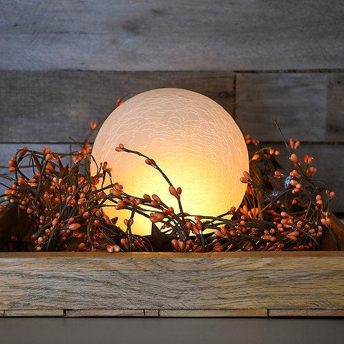 Battery LED Fire-Like Crackle Globe Light
