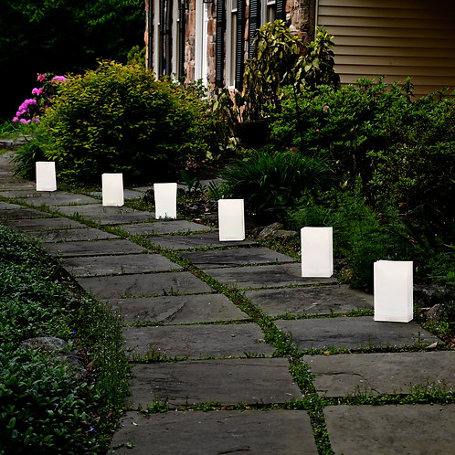 Plastic Luminary Bags - White 12ct