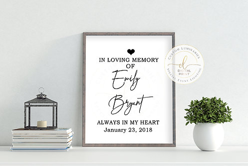 In Loving Memory Custom Print