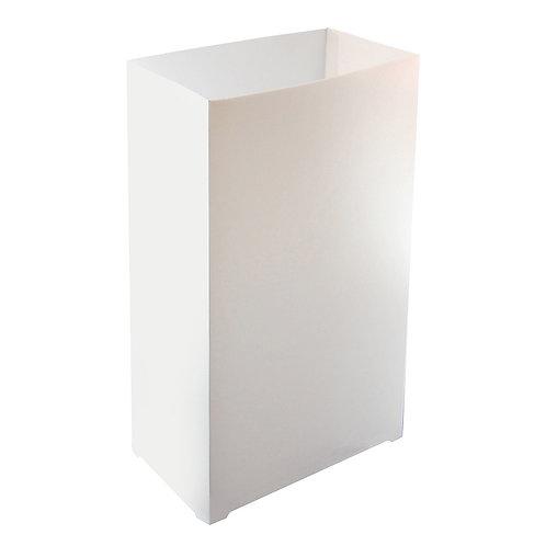 Plastic Luminaria Lanterns - White 100ct