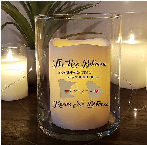 Love Knows No Distance Grandparent Candle