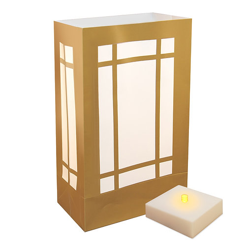 LumaLite Kit with Gold Lantern Plastic Bags 6ct