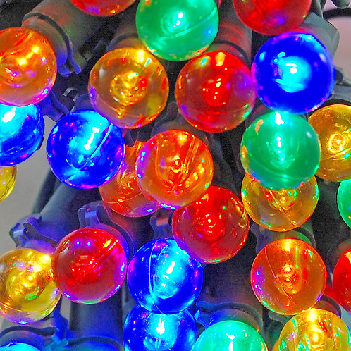 Electric String Lights - Plastic Globes Multi 70L